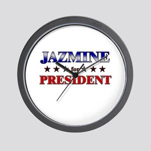 JAZMINE for president Wall Clock