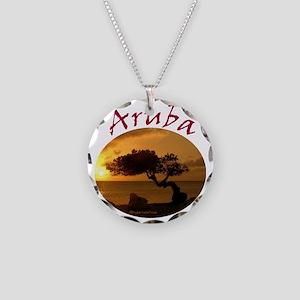 Aruba-Sunsets Logo Necklace Circle Charm
