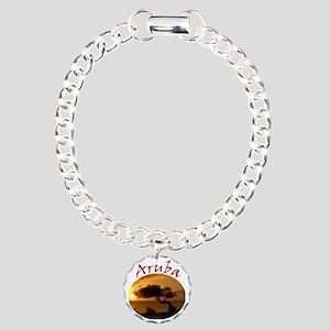 Aruba-Sunsets Logo Charm Bracelet, One Charm
