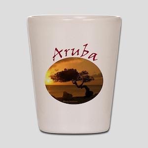 Aruba-Sunsets Logo Shot Glass
