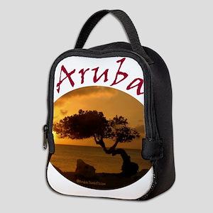 Aruba-Sunsets Logo Neoprene Lunch Bag