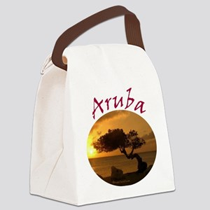 Aruba-Sunsets Logo Canvas Lunch Bag