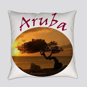 Aruba-Sunsets Logo Everyday Pillow