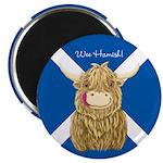 Personalised Happy Scottish Highland Cow (Saltire)