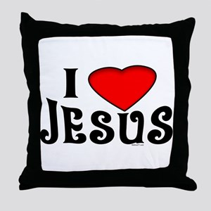 I Love Jesus Throw Pillow