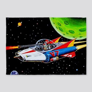 V-7 SPACE SHIP 5'x7'Area Rug