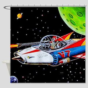V-7 SPACE SHIP Shower Curtain