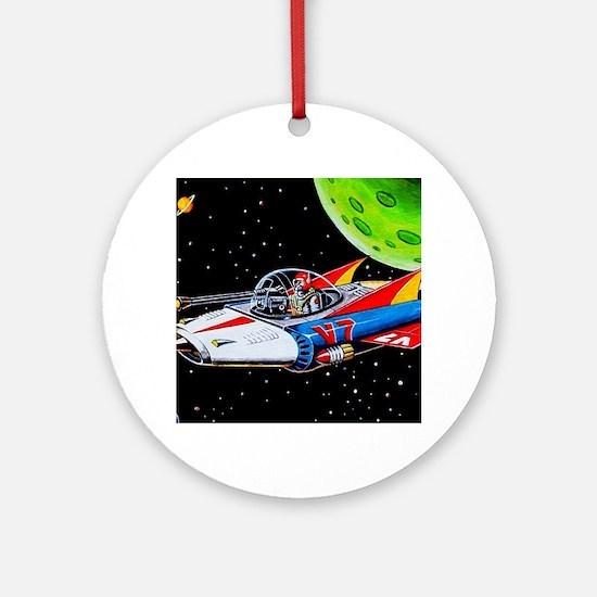 V-7 SPACE SHIP Round Ornament