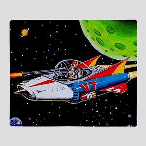 V-7 SPACE SHIP Throw Blanket