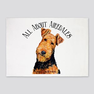All About Airedales 5'x7'Area Rug