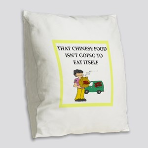 chinese food Burlap Throw Pillow