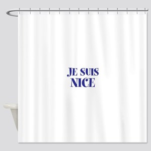 Je Suis Nice Shower Curtain