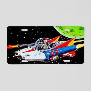 V-7 SPACE SHIP Aluminum License Plate