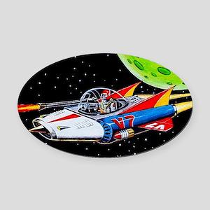 V-7 SPACE SHIP Oval Car Magnet