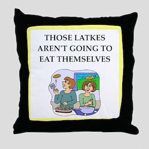 Funny food joke Throw Pillow