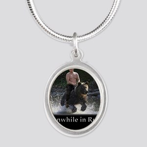 Vladimir Putin Riding A Bear Necklaces