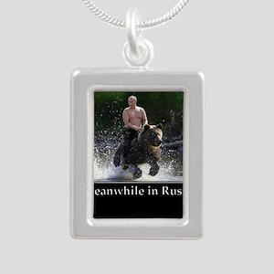Vladimir Putin Riding A Bear Necklaces