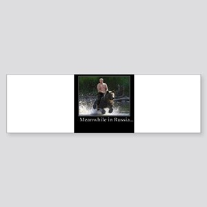 Vladimir Putin Riding A Bear Bumper Sticker