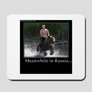 Vladimir Putin Riding A Bear Mousepad