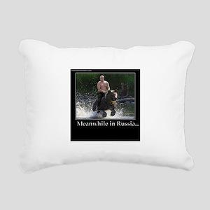 Vladimir Putin Riding A Rectangular Canvas Pillow
