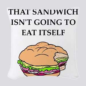 sandwich Woven Throw Pillow
