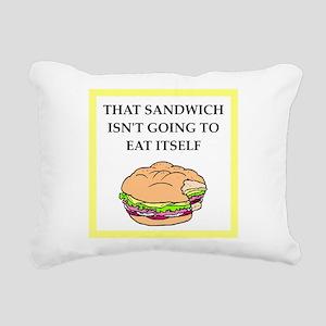 sandwich Rectangular Canvas Pillow