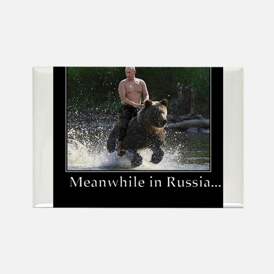 Vladimir Putin Riding A Bear Magnets