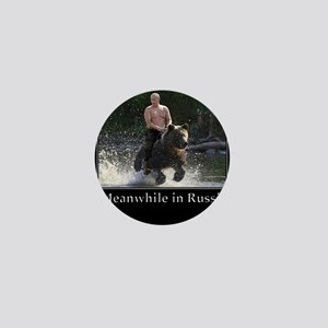 Vladimir Putin Riding A Bear Mini Button