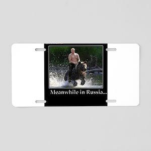 Vladimir Putin Riding A Bea Aluminum License Plate