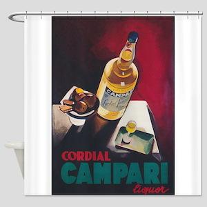 Cordial Campari Vintage Beverage Po Shower Curtain