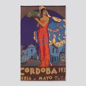 Cordoba, Spain Vintage Travel Poster Area Rug