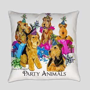 Airedale Terrier Party Everyday Pillow