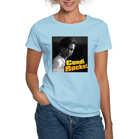 """Condi Rocks!"" Dr. Condoleeza Women's Pink T-Shirt"