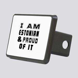 I Am Estonian And Proud Of Rectangular Hitch Cover