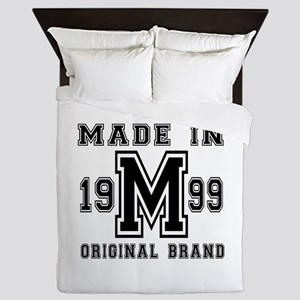 Made In 1999 Original Brand Birthday D Queen Duvet