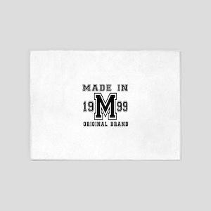 Made In 1999 Original Brand Birthda 5'x7'Area Rug