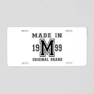 Made In 1999 Original Brand Aluminum License Plate