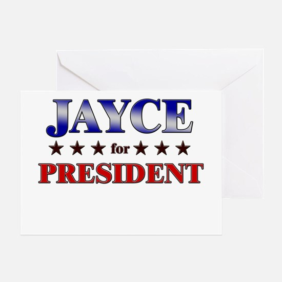 JAYCE for president Greeting Card