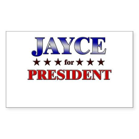 JAYCE for president Rectangle Sticker