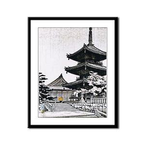 JAPAN-PAGODA Framed Panel Print