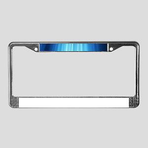 Blue Line Pattern License Plate Frame