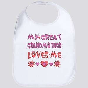 "Baby Girl ""Great Grandmother"" Bib"