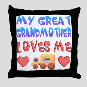 "Baby-Boy ""Great Grandmother"" Throw Pillow"