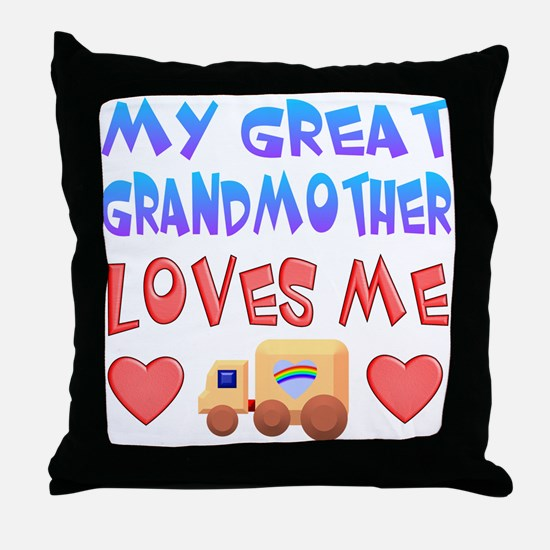 "Baby-Boy ""Great Grandmother"" Throw Pillow"