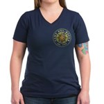 Del-Haven Patch Women's V-Neck Dark T-Shirt
