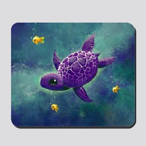Sea turtle and friends Mousepad