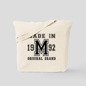 Made In 1992 Original Brand Birthday Desi Tote Bag