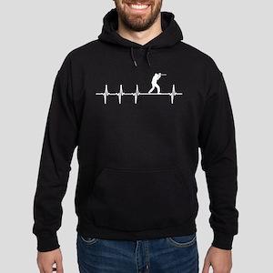 Paintball Sport Heartbeat Love Hoodie (dark)
