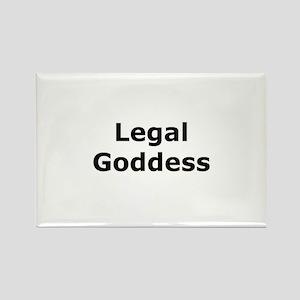 Legal Goddess Rectangle Magnet