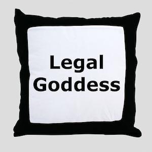 Legal Goddess Throw Pillow